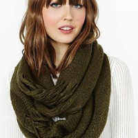 Shred Infinity Scarf - Olive