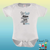 Step Aside Ken There's a New Stud in Town EMBROIDERED Baby Boy Bodysuit / Toddler Tshirt