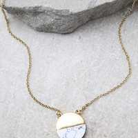 Most Modern Gold and Ivory Necklace