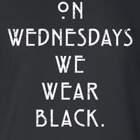 On Wednesdays We Wear Black TV Show inspired Freak Show Funny T-shirt tshirt tee shirt Mens Ladies Womens Santa Merry Christmas Xmas DT-642