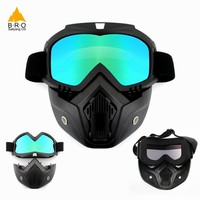 Men Women Anti-UV Glasses TPU Cycling Full Face Mask Snowboard Masks Ski Goggles Motorcycle Glasses for a Bicycle Sports Eyewear