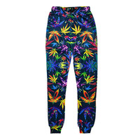 Colorful Weed Joggers