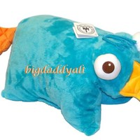 NEW Disney Parks Exclusive Perry the Platypus Phineas Ferb Pillow Pet Pal Plush