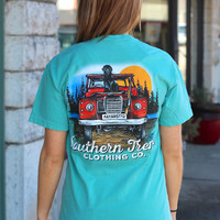 Jeep Tee by SOUTHERN TREND {Seafoam}