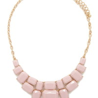 Tiered Faux Stone Necklace