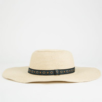 Ethnic Band  Floppy Hat Natural One Size For Women 25497942301