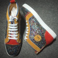 DCCK2 Cl Christian Louboutin Rhinestone Style #1953 Sneakers Fashion Shoes