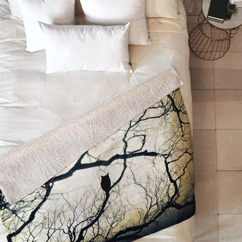 Shannon Clark Mysterious Woods Fleece Throw Blanket
