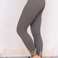 Cable Knit Legging In Gray