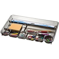 Officemate® Smoke Colored Plastic Drawer Organizer | Staples®