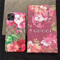GG Floral Print iPhone 7/8/11/12 Phone Case Cover