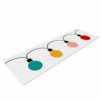 "bruxamagica ""Christmas Lights"" Multicolor Holiday Digital Yoga Mat"