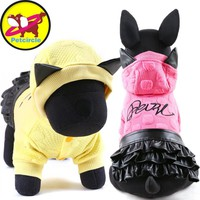 2017 petcircle new pet dog clothes leather dog dress winter pet skirt for small and large dogs dog Costumes for chihuahua