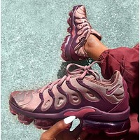 NIKE AIR VAPORMAX PLUS ¡°SMOKEY MAUVE¡± Atmospheric pad running shoes
