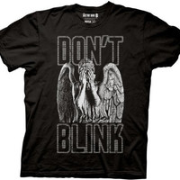 Doctor Who Blink Weeping Angel Covering Eyes T-shirt (Black)