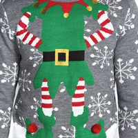 Christmas Elf Jumper with Pom Pom