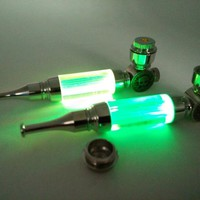 Cool New arrival MINI tobacco Pipe Metal Smoking Pipe Weed Pipe With LED Flash Light sending screens