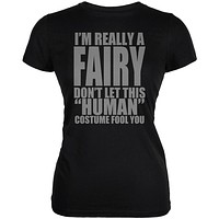 Halloween Human Fairy Costume Juniors Soft T Shirt