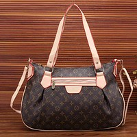Louis Vuitton Women Fashion Leather Satchel Shoulder Bag Handbag Crossbody-8