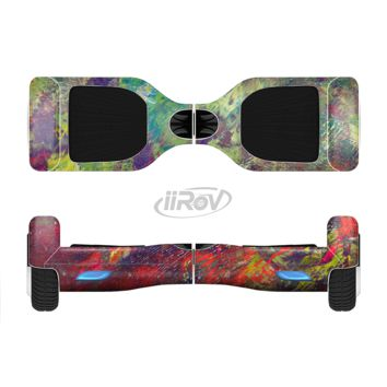 The Green and Red Wet Oil Paint Canvas Full Body Skin Set for the Smart Drifting SuperCharged Transportation iiRov
