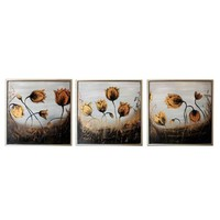 3pcs Set Scenery Manual Oil Painting Wall Hanging Deoration