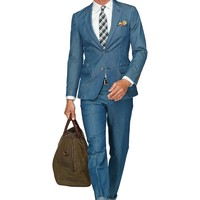 Suit Blue Plain Copenhagen P3747 | Suitsupply Online Store