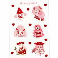 Creepy Gals Sticker Sheet