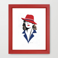 Peggy Carter Framed Art Print by Arne AKA Ratscape