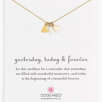 Women's Dogeared 'Yesterday, Today, Forever' Charm Necklace