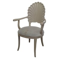 Pre-owned Natural Wood Shell Armchair