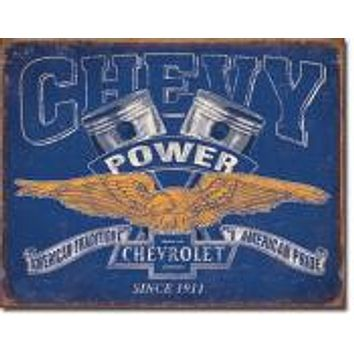 Tin Sign CHEVY POWER Since 1911