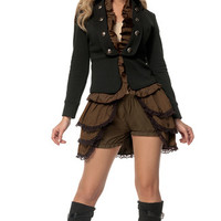 Plus Size Deluxe Steampunk Mistress Costume