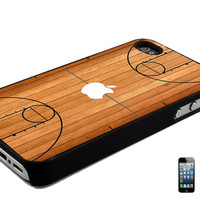 Basketball Court Wood Design iPhone 4 4s 5 5c 5s, Samsung Galaxy S3 S4 S5, Note 2, 3 Back Case Cover