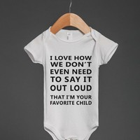 favorite child baby one-piece - Totes Adorbs Tees - Skreened T-shirts, Organic Shirts, Hoodies, Kids Tees, Baby One-Pieces and Tote Bags