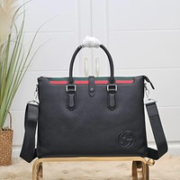 Gucci Hot Sale Personalized Casual Business Briefcase Fashion Men's and Women's Shoulder Messenger Bags 0802