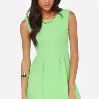 Glowing, Glowing, Gone Bright Mint Green Dress