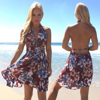 Bahamas Breeze Floral Dress