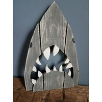 Great White Shark - Reclaimed Wood Wall Plaque