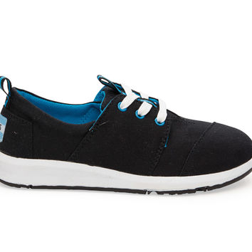 TOMS Black Canvas Youth Del Rey Sneakers Black