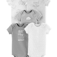 Carter's Baby Boys & Baby Girls 5-Pk. Cotton Bodysuits Kids - All Baby - Macy's