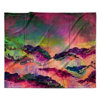 "Ebi Emporium ""It's A Rose Colored Life 3"" Magenta Orange Fleece Throw Blanket"