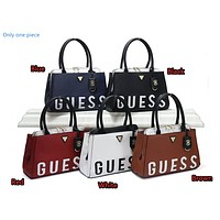 """""""GUESS"""" spring women's fashion wild simple stitching letter shoulder bag"""