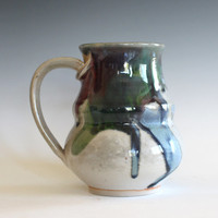 Pottery Coffee Mug, 19 oz, unique coffee mug, ceramic cup, handthrown mug, stoneware mug, wheel thrown pottery mug, ceramics and pottery