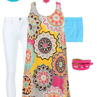 Dreaming in Color Outfit Set (Tunic, Necklace & Bandeau Included)
