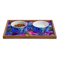 Lisa Argyropoulos Colour Aquatica Berry Blue Pet Bowl and Tray