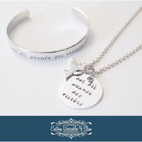 Anxiety/Panic Disorder Awareness Necklace & Bracelet! HAND STAMPED