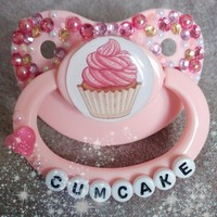 Cumcake Adult Pacifier from Binkie Kisses Co.