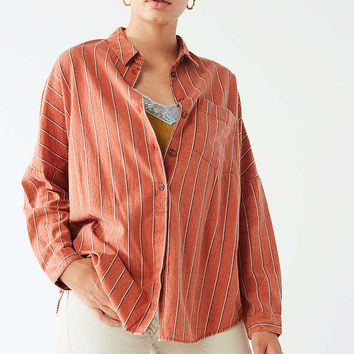 UO Striped Twill Shirt | Urban Outfitters