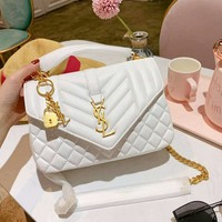 YSL 2019 new women's high-quality rhombic chain bag shoulder bag Messenger bag
