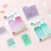 Colorful index sticky notes and memo pad Small convenient paste stickers Stationery Office accessories School supplies 6662